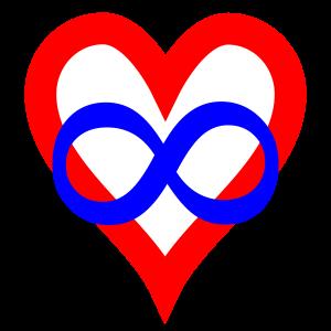 Das Herz mit dem Zeichen der Unendlichkeit als Symbol für Polyamorie
